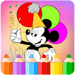 How to color Mickey mouse icon