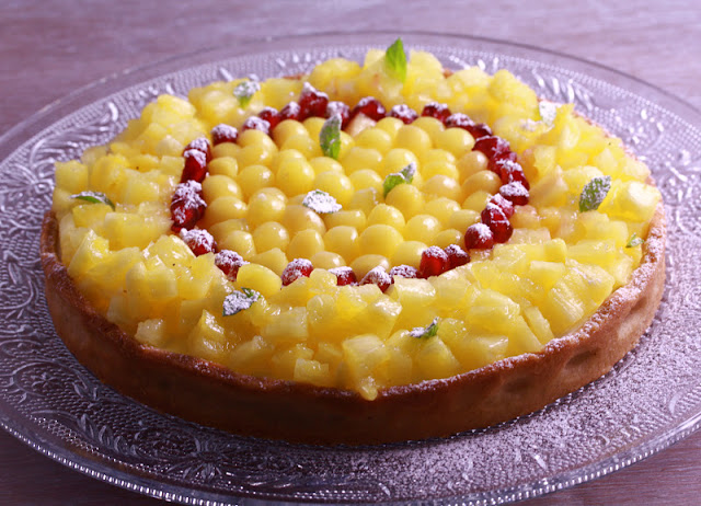 Cream Cheese and Tropical Fruit Tart with Spiced Crust Recipe