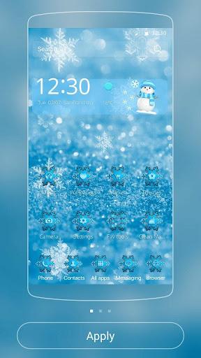アイス冷凍雪のクリスマスのテーマ