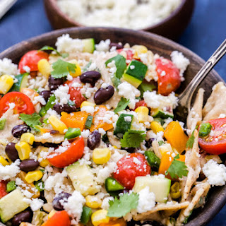 Creamy Southwest Vegetarian Pasta Salad Recipe