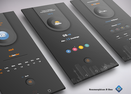Neumorphism R One for KLWP 5.0 Paid Latest APK Free Download 3