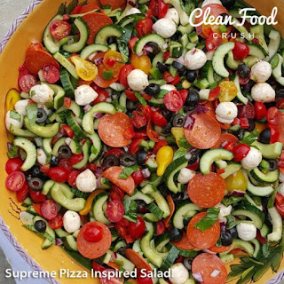 Supreme Pizza Inspired Salad!