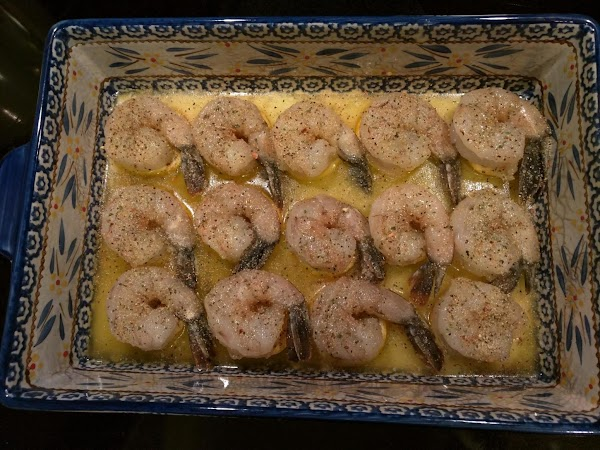 Sprinkle Italian dressing mix over shrimp and return to oven and bake, uncovered, for...