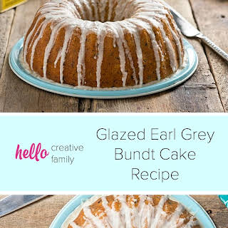 Glazed Earl Grey Bundt Cake.