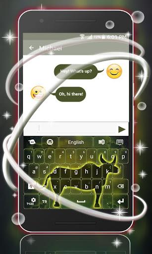 玩免費個人化APP|下載霓虹燈牛簽署鍵盤 app不用錢|硬是要APP