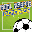 Soccer goal keeper defender icon