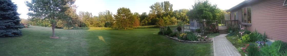 Photo: Backyard panorama. It's gonna be a good time so get excited!