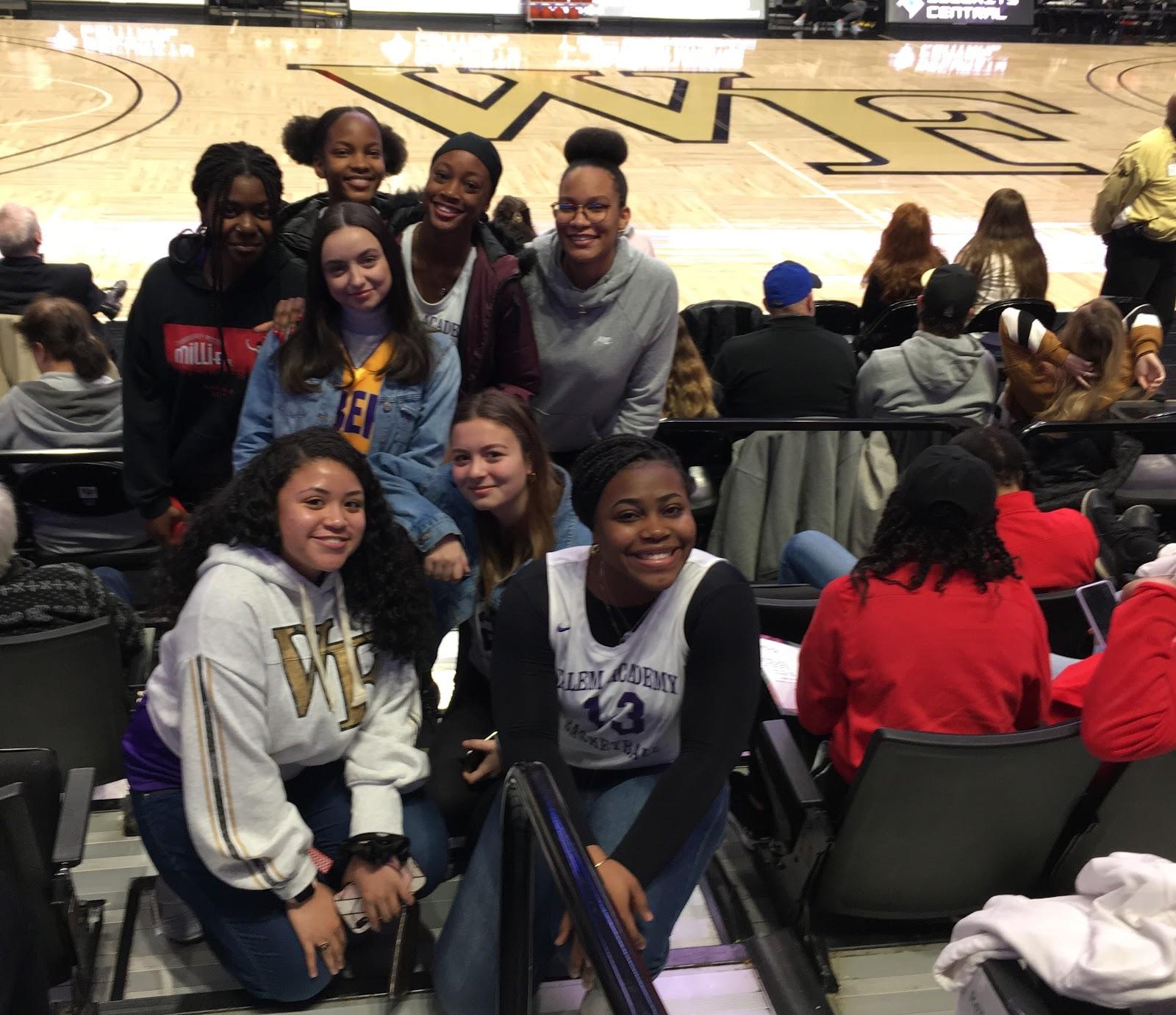 Students at WFU game