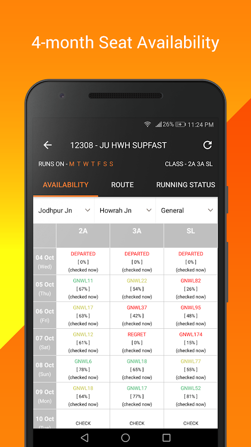 Indian Railway PNR Status & Train Running Status- screenshot