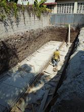 Photo: Février 2011: Fond e la fosse septique
