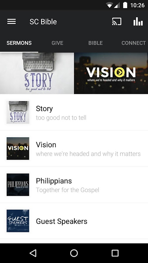Santa Cruz Bible Church- screenshot