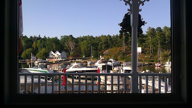 Photo: View from breadfast at Sportsman's Inn. What do you see a breakfast?