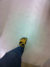 Photo: Do you have funny monkey toes shoes? My hubby does.... :)