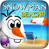 Snowman Frozen Beach Run