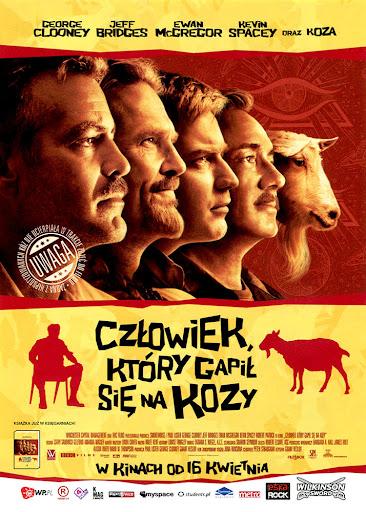 Przód ulotki filmu 'Człowiek, Który Gapił Się Na Kozy'