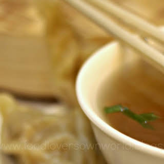 MOMO with HOT sauce & Clear Soup.