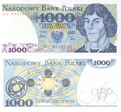 Photo: Nicolaus Copernicus, 1000 old Polish Zloty (1982). This note is now obsolete.