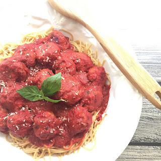 Turkey Beetballs and Spaghetti