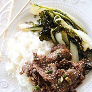 Korean BBQ Beef Bulgogi.