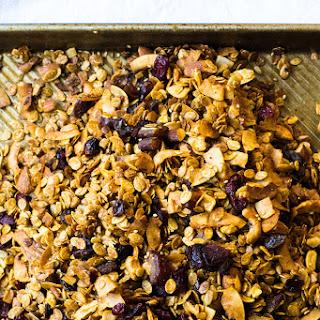 Tahini Orange Coconut Barley Granola.