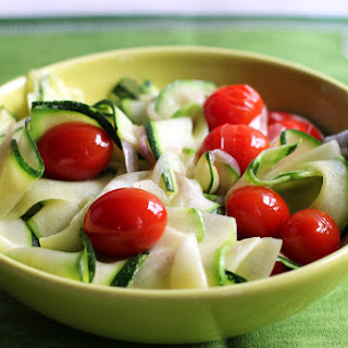 Pan-fried Pollock with Zucchini and Tomatoes.