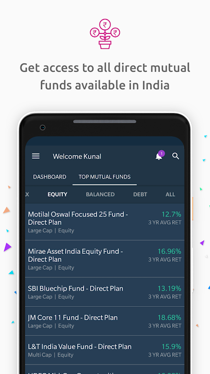 Free Mutual Funds, SIP, Save Tax, ELSS, MF tracker – (Android Apps