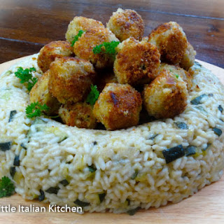 Dinner Party Risotto with Fish Croquettes.