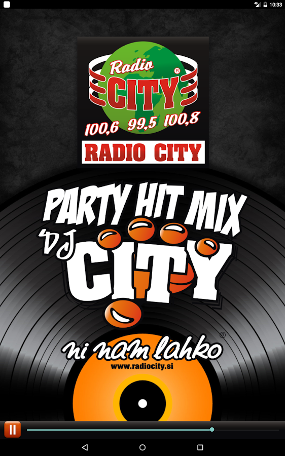 Radio City Party Hit Mix App- screenshot