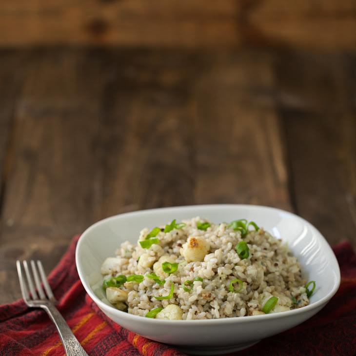 Gorgonzola Rice and Roasted Cauliflower Recipe