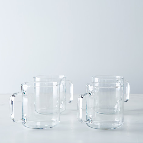 Borosilicate Glass Short Mug (Set of 4)