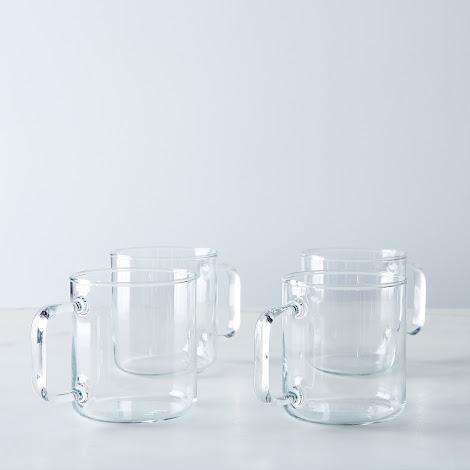 Borosilicate Glass Short Mug (Set of 4)