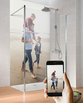personalisierbare Duschrückwand – hochglänzend