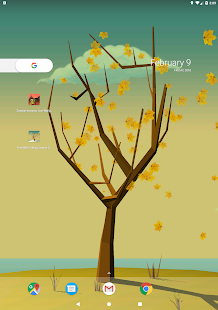Tree With Falling Leaves Live Wallpaper - FREE Screenshot