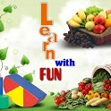 Fruit veg shape color for kids icon