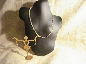 Photo: <BEREHYNYA> {Great Goddess Protectress} unique one-of-a-kind statement jewellery by Luba Bilash ART & ADORNMENT  Citrine, peridot, amethyst, 14K gold vermeil SOLD/ПРОДАНИЙ