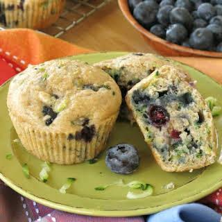 Zucchini Blueberry Muffins.