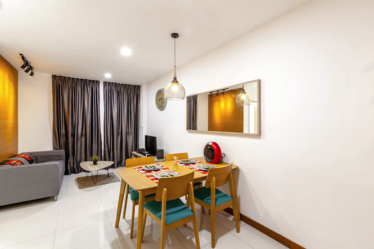Stunning living area in Lorong Apartments
