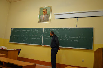 Photo: October 21, 2015  T. Banakh, I. Guran, O. Gutik, M. Zarichny  A survey of scientific achievement of Oleksandr Ravsky for the last 40 years (dedicated to his 40th Birthday)