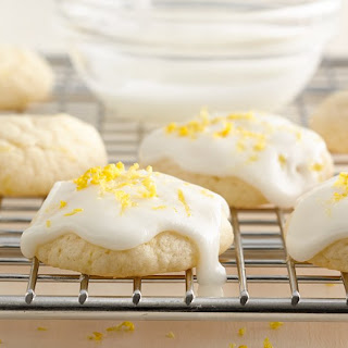 Lemon-Glazed Cream Cheese Cookies.