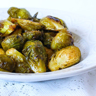 Roasted Maple-Mustard Glazed Brussels Sprouts