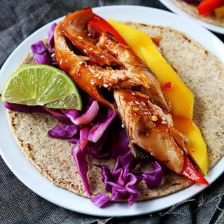 Thai Salmon Tacos.