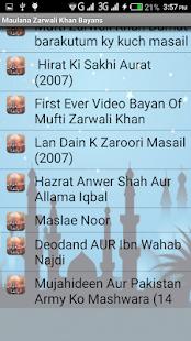 Maulana Zarwali Khan Bayanat - náhled