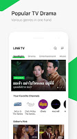 screenshot of LINE TV