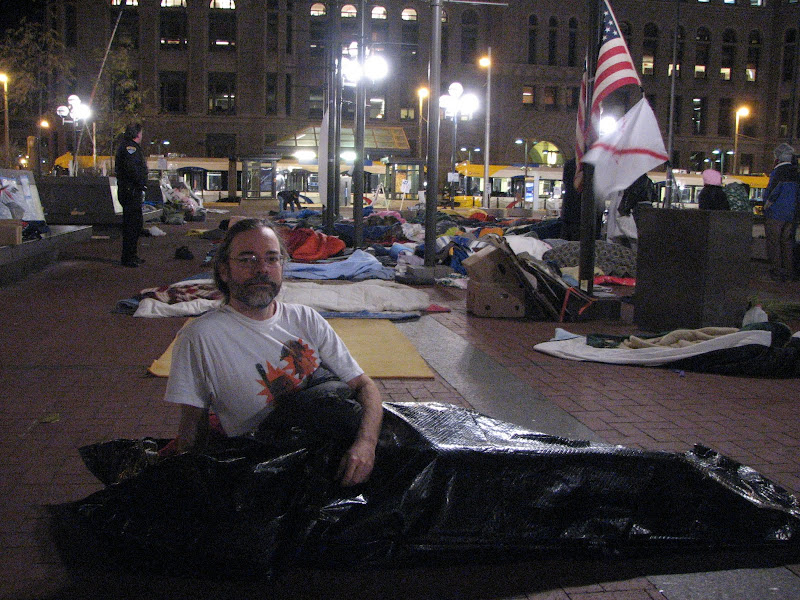 Photo: 2011.11.15 Tuesday 6am, after rule by Hennepin County prohibiting sleeping on the plaza