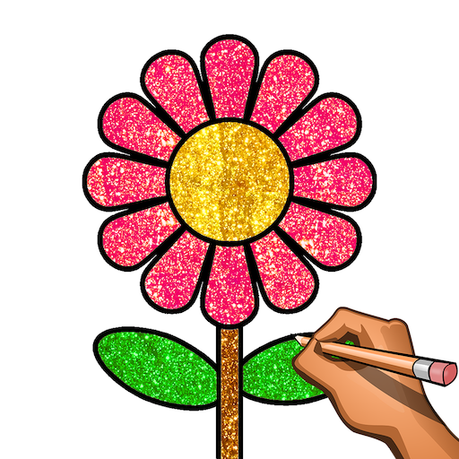 Learn to Draw , Glitter & Color: Draw Step by Step Icon