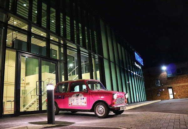 The Pink Mini at MAHLE Powertrain | Krys Kolumbus Travel