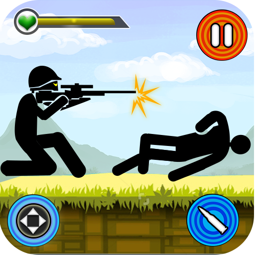 Stickman vs Stickmen Games : Shotgun Shooting Icon