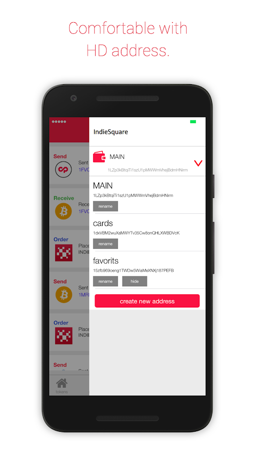 IndieSquare Wallet- screenshot