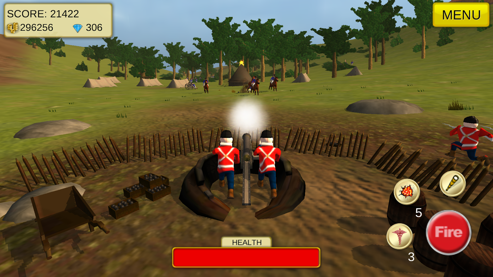 1815 Cannon Shooter Waterloo- screenshot