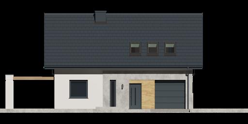 Dom przy Alabastrowej 37 - Elewacja przednia